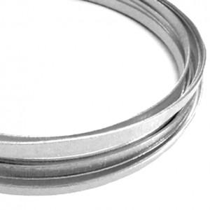 Filo alluminio piatto zigrinato 3,5 x 1 mm - Argento