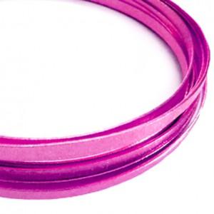 Filo alluminio piatto zigrinato 3,5 x 1 mm - Rosa forte