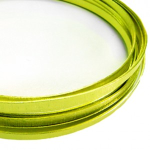 Filo alluminio piatto zigrinato 3,5 x 1 mm - Verde mela