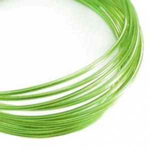 Filo alluminio tondo liscio Ø 2 mm - Verde tiglio