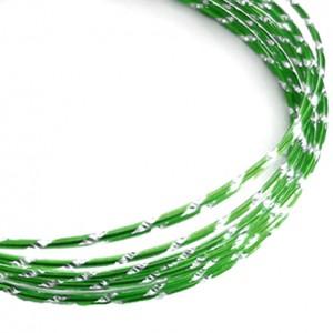 Filo alluminio tondo diamantato Ø 2 mm - Verde scuro