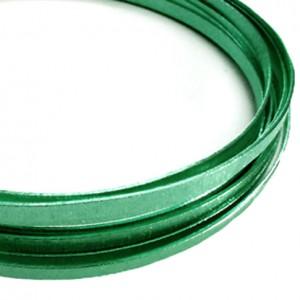 Filo alluminio piatto liscio 3,5 x 1 mm - Verde scuro