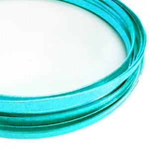 Filo alluminio piatto zigrinato 3,5 x 1 mm - Turchese