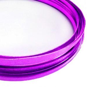 Filo alluminio piatto zigrinato 3,5 x 1 mm - Lilla