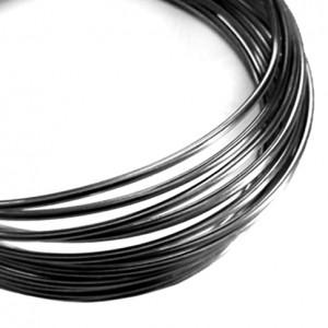 Filo alluminio tondo liscio Ø 2 mm - Nero
