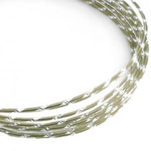 Filo alluminio tondo diamantato Ø 2 mm - Perla
