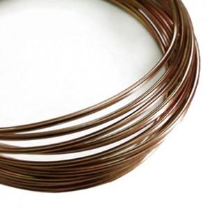 Filo alluminio tondo liscio Ø 2 mm - Cioccolato