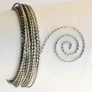 Filo alluminio tondo martellato Ø 2 mm - Grigio