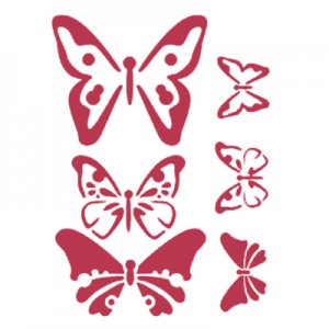 Stencil stamperia butterfly per decoupage
