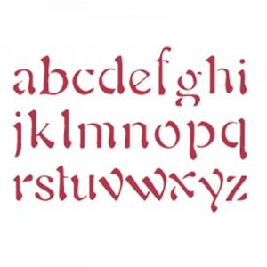 Stencil stamperia alfabeto minuscolo per decoupage