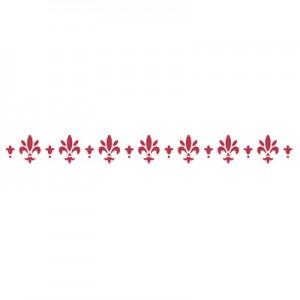 Stencil stamperia bordura giglio per decoupage