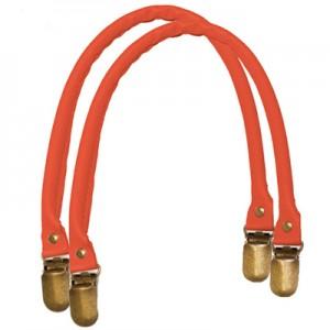 Manici in similpelle a bretella per borse colore rosso
