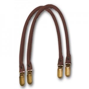 Manici in similpelle a bretella per borse color testa di moro