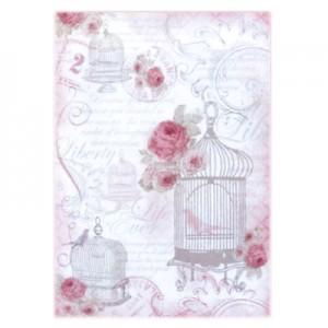 Carta di riso La Vie en Rose Gabbiette