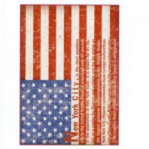 Foglio di carta di riso A4 bandiera USA