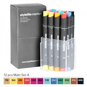 Pennarelli Stylefile Marker 12 pezzi set A