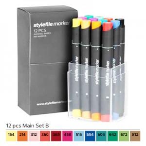 Pennarelli Stylefile Marker 12 pezzi set B