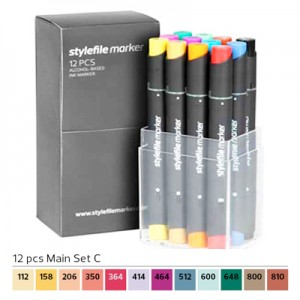Pennarelli Stylefile Marker 12 pezzi set C