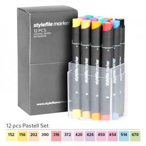 Pennarelli Stylefile Marker 12 pezzi set pastello
