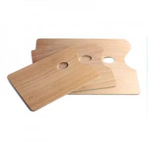 Tavolozza in legno rettangolare per pittura
