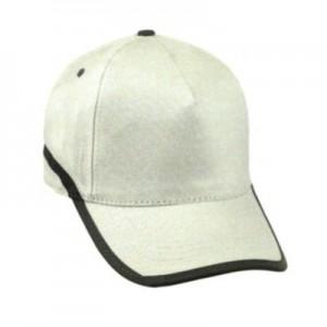 Cappellino da Baseball 5 pannelli con banda rifrangente. Confezione da 10 pezzi.