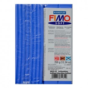 FIMO SOFT BLU BRILLANTE 33 - 350 GR
