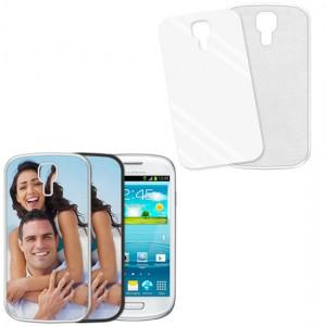 Cover bianca con piastrina stampabile - Samsung Galaxy S3 Mini