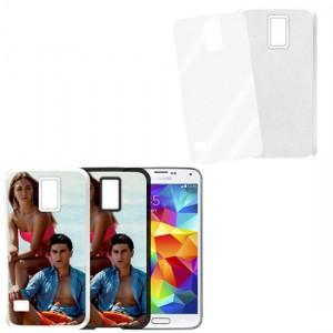 Cover bianca con piastrina stampabile - Samsung Galaxy S5