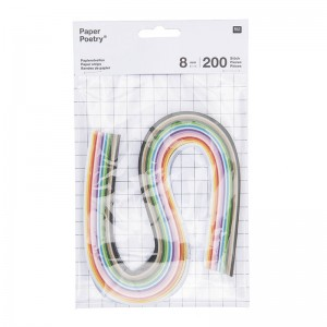 Set 200 strisce di carta per Quilling 8 mm - Multicolore