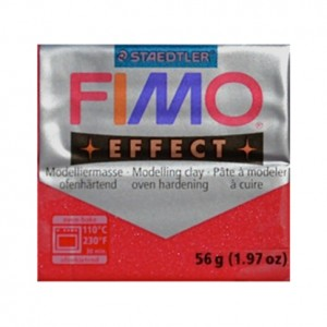 FIMO EFFECT METALLIC RUBINO 28 - 56 GR