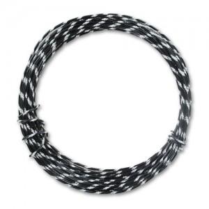 Filo alluminio tondo diamantato Ø 2 mm - Nero