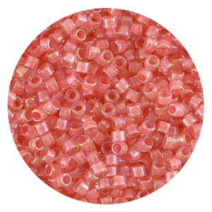 Perline in vetro Miyuki Delica Lined Rose Pink Crystal ab 11/0 - 10g