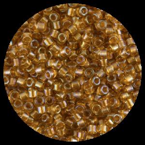 Perline in vetro Miyuki Delica Lined Topaz ab 11/0 - 10g