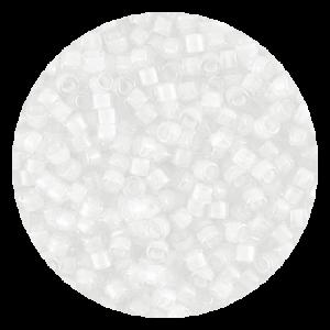 Perline in vetro Miyuki Delica Lined White Crystal 11/0 - 10g