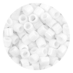 Perline in vetro Miyuki Delica Bianco gesso opaco 8/0 - 10g