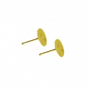 Orecchino a perno piatto color oro - 20 pz