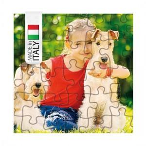 Puzzle neutro quadrato 19x19 cm - Confezione 10 pezzi