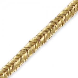 Fettuccia soutache metallizzato oro