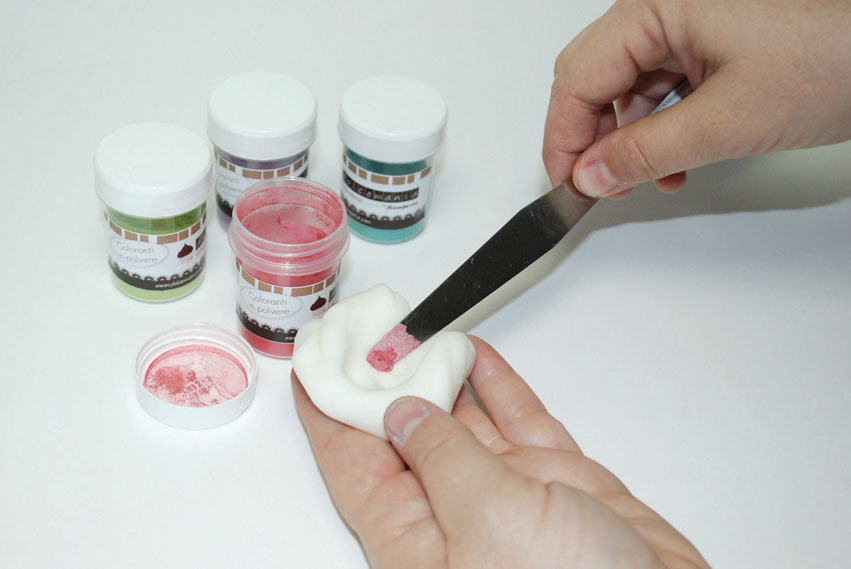 Polveri coloranti per pasta di zucchero